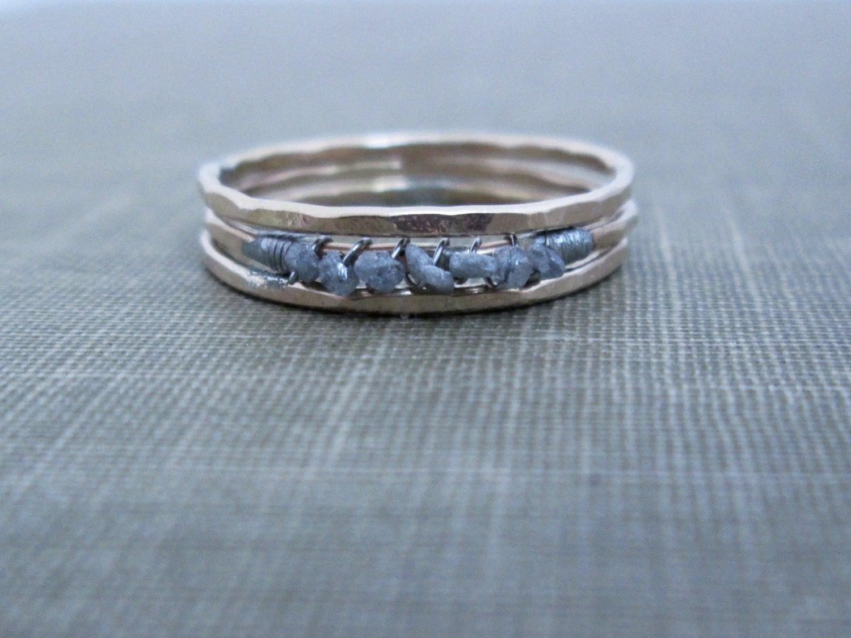 Ultra Thin Raw Diamond Ring // Uncut Diamond By