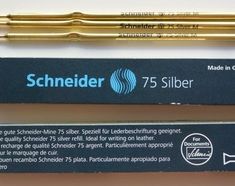 Leather PVC Upholstery Marking 3 PENs Silver washes off Scheider made in Germany