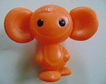 Soviet vintag toy, soviet plastic toy, Cheburashka, made in USSR