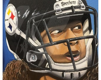 "Pittsburgh Steelers, Troy Polamalu ""43 Forever"" Art Print"