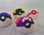poke'ball stress balls/ hacky sacks