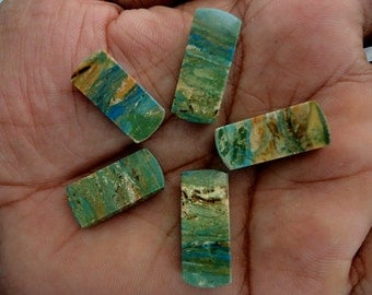 Opalina lot of 5 Piece, 38ct Wholesale Lot, Natural Gemstone Cabochons AG-707