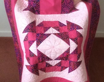 Lap Quilt with Pockets. Free postage/shipping