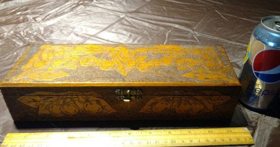 Antique wooden glove box flemish art co new york