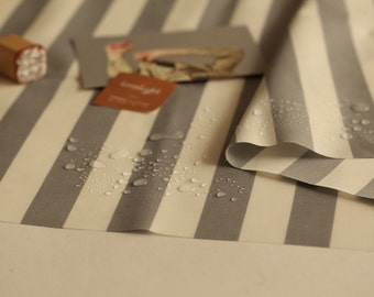 Laminated Cotton Fabric Gray Stripe By The Yard