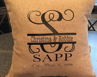 Personalized Family Name Thow Pillow