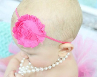 CLEARANCE-You Choose Color-shabby Headband-skinny headband-infant headband-baby headband-newborn headband-headband-baby girl-girl headbands