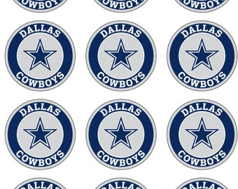 Dallas Football Edible Image Cupcake Toppers