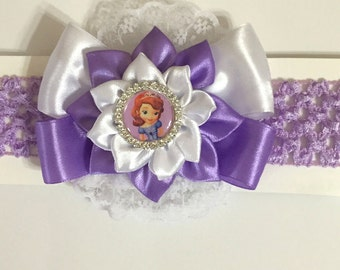 Disney Inspired Princess Sophia Baby Headband -  Handmade