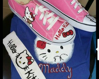 Hello Kitty hand painted shoes