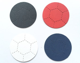 30 Soccer Ball Football Die cuts for mens/boys Male card toppers cardmaking scrapbooking