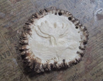 moose carving buckle