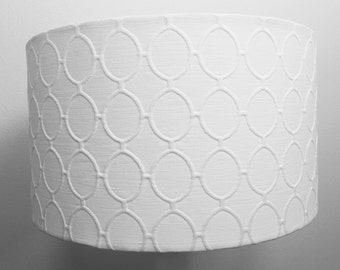 Dwell Cameo Ovals Fabric DRUM LAMP SHADE