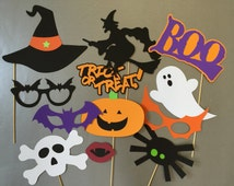 Halloween Photobooth Props Photo Booth Props Set of 12