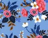 Pre-order! Birch in Periwinkle of Les Fleurs by Rifle Paper Company for Cotton and Steel