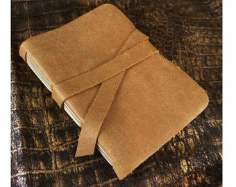 Cappuccino Pocket Journal: Small Brown Leather Blank Book