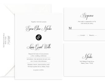 Wedding Invitation, Wedding Invites, Wedding Invitation Suite, Wedding Invitation Set, Modern Wedding Invitation, Printed Wedding Invitation