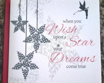 Handmade Personalised Christmas Card Daughter Granddaughter Niece etc