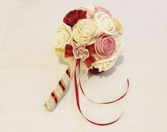 Bridal Bouquet or Bridesmaid bouquet ,   Sola flowers
