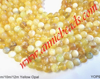 Beautiful Natural Round Smooth Yellow Opal !!!!