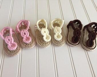 Circle Sandals- 0-6 months