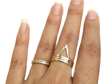 Triangle Stacking Ring - Triangle Ring