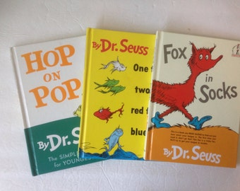 Dr. Seuss Books Fox in Socks, One Fish Two Fish, Hop on Pop
