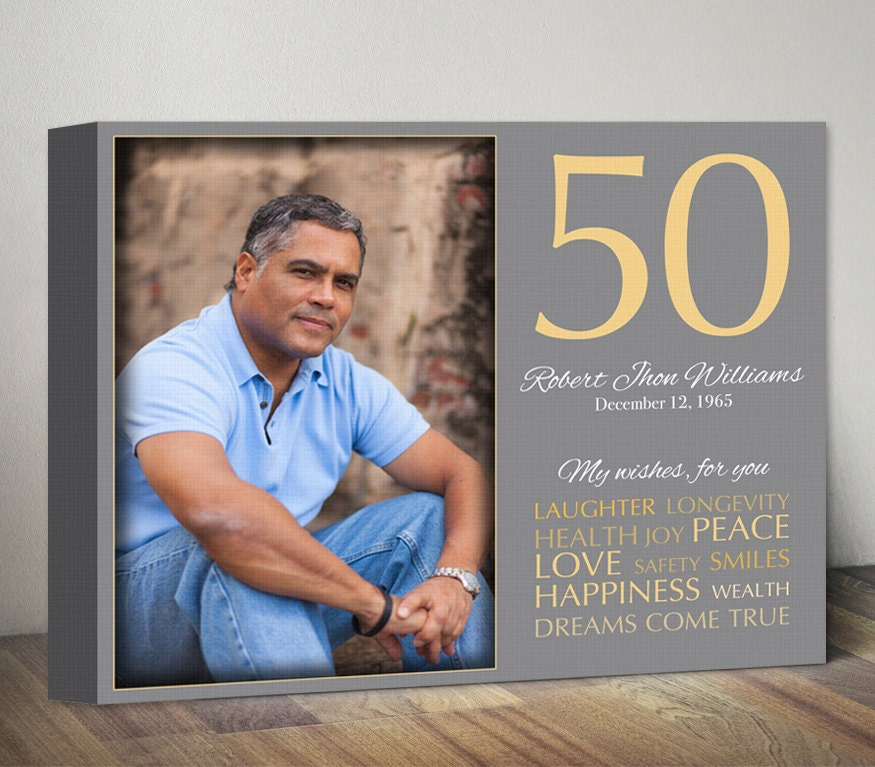 50th Birthday Gift For Men Women Birthday Gift With Photo