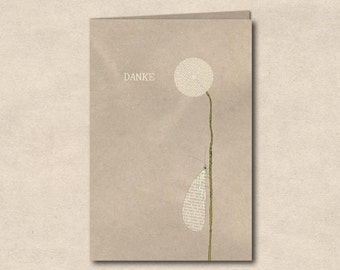 Thank you - double card with envelope