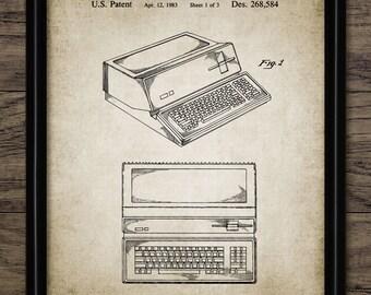 Apple Computer Patent Print - Apple Mac Wall Art - Steve Jobs Poster - Computing Gift Printable Art - Single Print #421 - INSTANT DOWNLOAD
