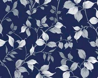 Charlotte Vine - Indigo (24116-Y) Quilting Treasures Cotton Fabric Yardage