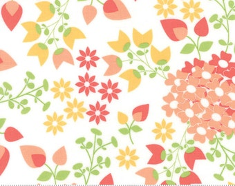 SUNDROPS, Corey Yoder, Moda Fabrics, 29010-11, White Floral, Sundrops fabric, Sundrops Collection, Little Miss Shabby