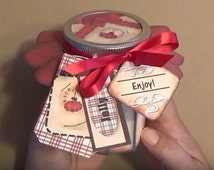 Stitches - Rustic Snowman Jelly Jar Wrap - Half Pint Jar Packaging ideas. JAMMIES