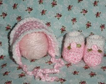Micro Preemie, Preemie, Micro Preemie Hat and Booties, Micro Preemie Hat, Micro Preemie Booties