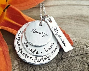 Nana Necklace, Grandma Necklace, Family Necklace, Mom Necklace, wife necklace, layered necklace, bar necklace, Mama necklace, gift for her