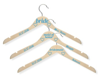 5 Bridesmaid Hanger Wedding / Custom Hanger / Wedding Name Hanger / Wedding Hangers Name  / Mrs Hanger / Wedding Hanger Set / Bridal Hanger
