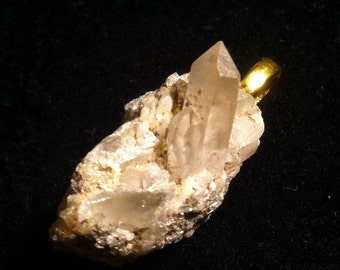 Beautiful one of a kind quartz crystal pendant