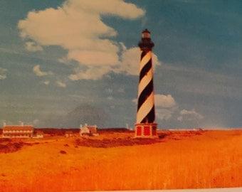 Vintage NC Postcard Cape Hatteras Lighthouse Outer Banks of North Carolina Cape Hatteras North Carolina