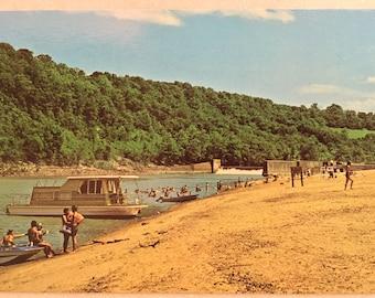 Vintage Ky Postcard Fort Boonesborough State Park Richmond Kentucky Beach Ky