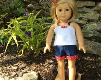Short Set for American Girl Dolls or Similar 18 Inch Dolls