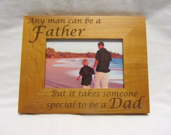 Personalized Wood Picture Frame- Father