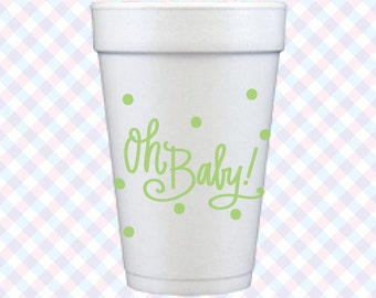 Oh Baby! Foam Cups (Qty 12)