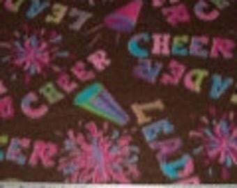 Cheerleader Fleece Fabric By The Yard