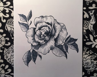 Rose A5 Print