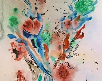 """Watercolor """"Autumn storm"""""""