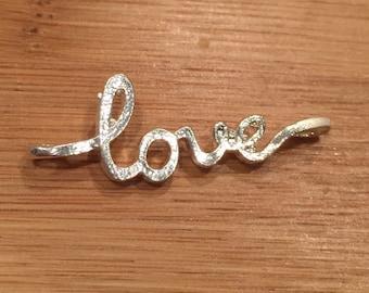Cursive Love Charm 40x15mm