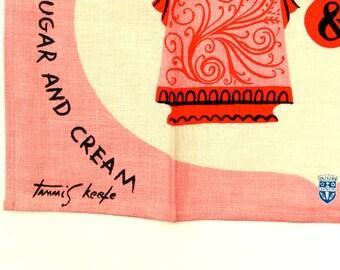 Tammis Keefe Pink Tea Towel Polly Put The Kettle On