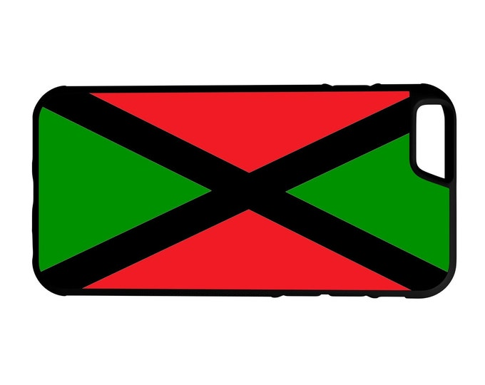 Flag Of Jamaica With Pan African Colors iPhone Galaxy Note HTC LG Hybrid Rubber Protective Case Jamaicans