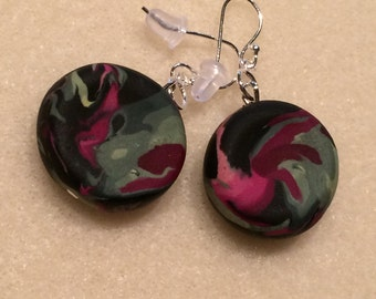 Polymer clay botanical inspired earrings