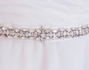 thin wedding sash belt, bridal belt, bridal sash belt, wedding belt, Swarovski belt, jeweled belt, wedding dress, dress belt